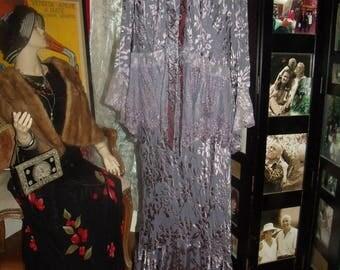 Vintage 80s 2pc Garment   Dress Flapper   Daytime  Size 3X