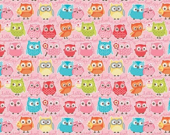 KNIT Tree Party Owls - Kelly Panacci - Riley Blake Designs Available in Quarter, Half and Full Yards