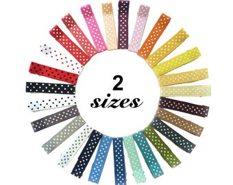 SALE Polka Dot Alligator Clips | ribbon clips | alligator clips