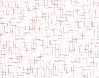 MODA Modern BG Background Colorbox Geometric Grid White Geranium Red 1648 14 Yardage by Brigitte Heitland of Zen Chic