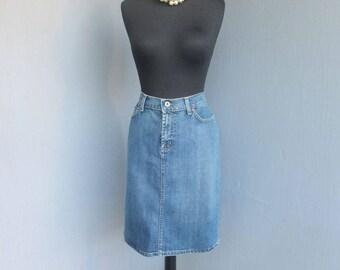Vintage RALPH LAUREN Denim Skirt, Waist 32 inches, Jeans Skirt, Denim, Polo Jeans Company