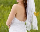 Classic Curly Edge Bridal Veil