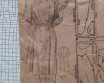"1940s Rain Coat - 34"" Bust - Maudella 4171 - Vintage Sewing Pattern"