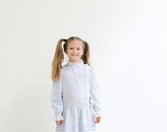 1980s Bow Age Dress /// Size 5t