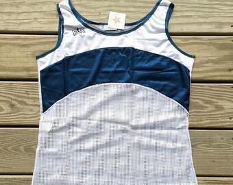 SALE Mesh Tank Top Bill Rodgers Tank Womens Navy Deadstock Brand new Never worn Running Tank Tennis Tank