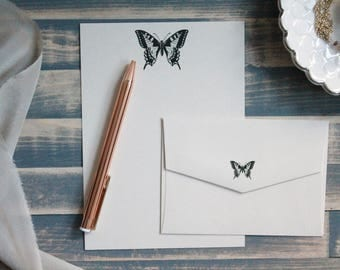 Vintage Butterfly Writing Set | Writing Paper | Stationary Gift Set | Gift for Her | Stocking Stuffer | Snail Mail