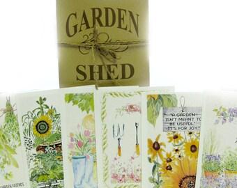 Garden Shed Flat Notes Card Set