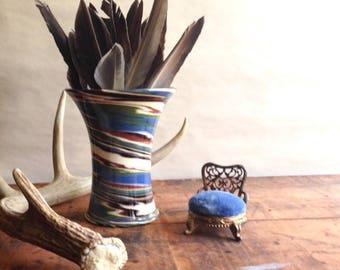 Vintage Desert Sands Swirl Vase 1950s 1960s Southwest Art Pottery Autumn Fall Decorating Accent Piece