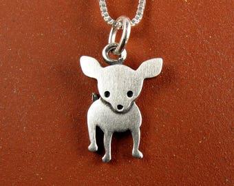 Tiny chihuahua necklace / pendant