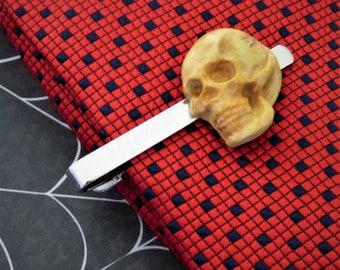 Skull Head Cuff Links - Creepy Cufflinks - Human Skull Cuff Links - Schickie Mickie Handmade Original