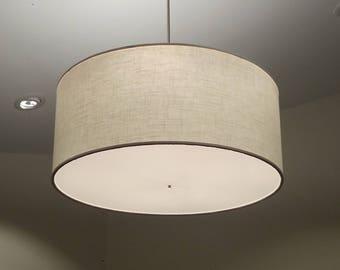 Custom 36 inch large drum pendant light fixture custom 30 inch drum light fixture mozeypictures Choice Image