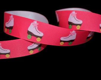 Roller Skate Ribbon, Roller Derby Ribbon, Women's Sports Ribbon, Competition Ribbon, Skating Ribbon, Cheer Ribbon, Team Ribbon, Rink Ribbon