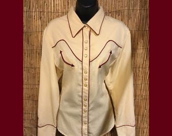 Vintage Scully women's western shirt