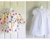 "Girls Retro Tunic - ""Hattie"" blouse - 12 mos to size 8 -FABRIC CHOICE - retro look - sleeve length options"