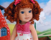 Strawberry Shortcake - custom Wellie Wisher American Girl doll with wardrobe & accessories