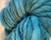 Sage Green Mini  Hank Merino Hand spun, Hand dyed Chunky Yarn
