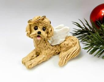 Labradoodle GoldenDoodle Christmas Ornament Angel Porcelain