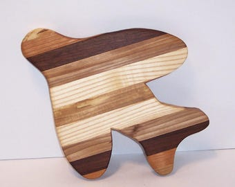 Airplane Cutting Board Handcrafted from Mixed Hardwoods