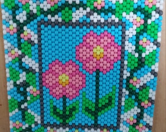 Beautiful Flowers Beaded Banner