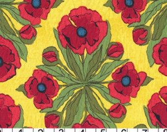 Michael Miller Fabrics Floral Trivet in Yellow Fat Quarter by Laura Gunn