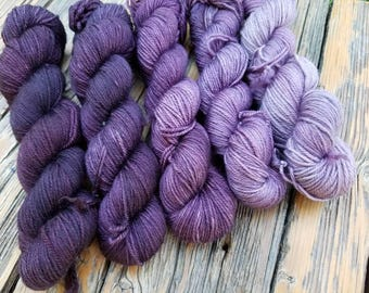 RESERVED for Tiz - Lavender Fields Forever II Gradient  - Set of 5 - 750 yards - 70/20/10 MCN