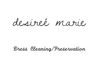 Wedding Dress Cleaning and Preservation for Desiree Marie Design Austin Brides Only