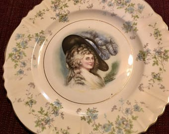 Vintage Gainsborough scalloped  Plate 22kt