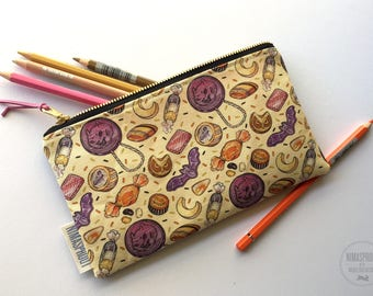 Halloween Themed - Large Fabric Pouch