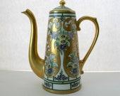 Reserved for Karen-Please dont buy-Pickard Coffee Pot, Art Nouveau Limoges France, Hand Painted Artist Signed Kriesche
