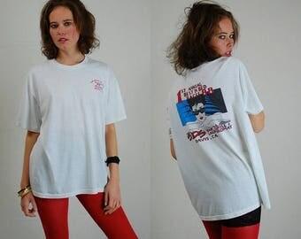 SALE 25% off sundays Distressed Ringer Tee Vintage 1988 Best In Bed Races Super Soft Jersey T Shirt (m l)