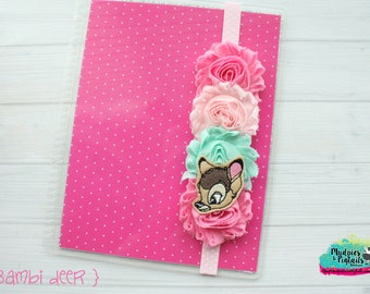 Planner band { Bambi Deer } pink, mint animal elastic notebook band closure for happy planner mambi erin condren filofax, kikkik