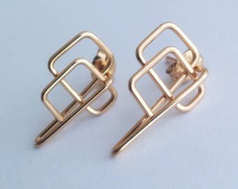 14 kt Gold Filled Stud Earrings #4