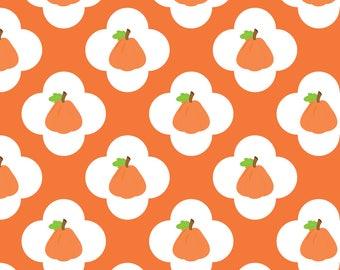 Pumpkin Fabric - Pumpkin Pattern By Snapdragonandfinn - Pumpkin Fall Orange Gourd Autumn Kitchen Cotton Fabric By The Yard With Spoonflower
