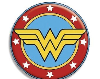 "20% OFF - Wonder Woman Symbol Pocket Mirror, Magnet or Pinback Button - 2.25"" MR571"