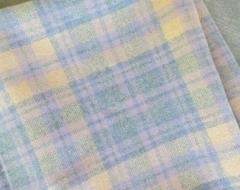 "Vintage Pendleton Wool Plaid Fabric 55"" x 60"" / Wonderful Plaid Design / OLD Good Pendleton Type Shirt Fabric The way it used to be!"