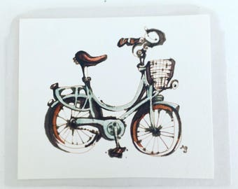 Tiny original little bicycle sketch by Andrea Joseph