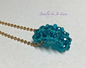 Turquoise Crystal Pendant