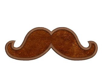 SALE 65% OFF Applique Mustache Moustache Machine Embroidery Designs 4x4 & 5x7 Instant Download Sale