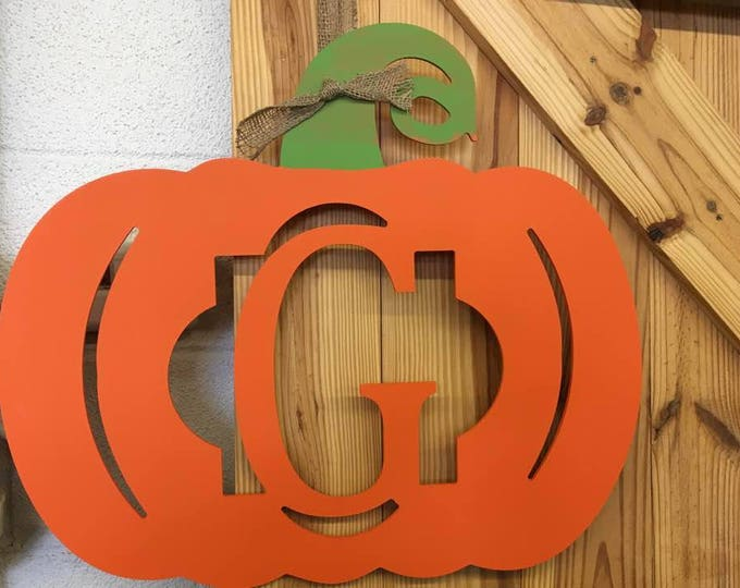 2 LARGE pumpkin monograms front door initial mantle housewarming gift beach home fall housewarming personalized initials BeachHouseDreamsOBX