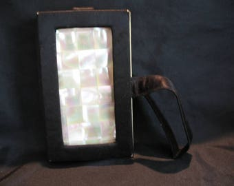 Vintage Mother Of Pearl Compact Wristlet by Marhill