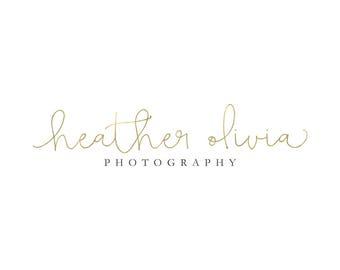 Gold Logo Photography Logo Lash Logo Makeup Artist Logo Calligraphy Watermark Logo Design Branding Package Premade Logo Signature Logo