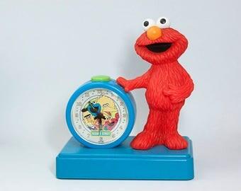 Vintage Elmo's Musical Alarm Clock Fantasma 1997 Sesame Street Children's Television Workshop