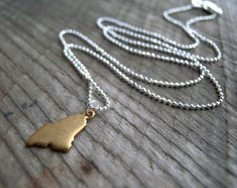 """Tiny Maine necklace on 16"""" Sterling Chain"""