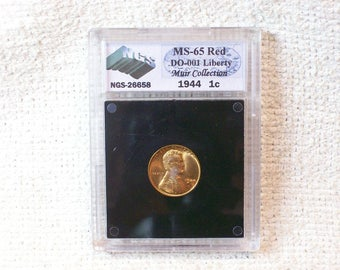 Lincoln Wheat 1944 Do 001 Liberty Slabbed NGS NuGrade