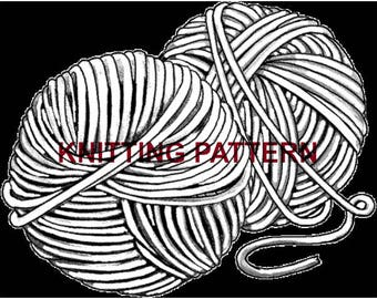 Knit Pattern, Instant Download, Boot Cuff Pattern, Beginner Knit Pattern, Knitting Pattern, DIY Pattern, PDF Knitting Pattern