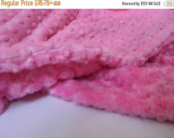 SALE Hot Pink Minky Dot Baby Blanket Toddler to TeenCan Be Personalized