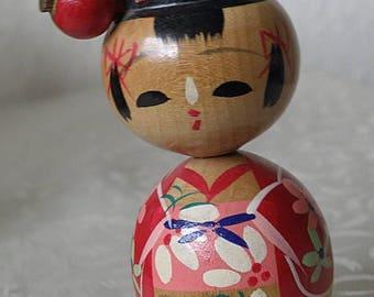 "christmasinjuly 3"" Kokeshi Doll, Female, Bobble Head"
