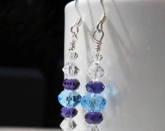 SALE, 50%, Winter Icicles earrings in crystals