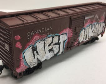 "HO Scale CN Canadian National 40' boxcar ""West Oakland"""