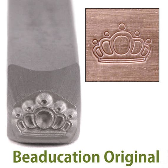 Queen's Crown Metal Design Stamp 7mm wide and 5mm high - Beaducation Original